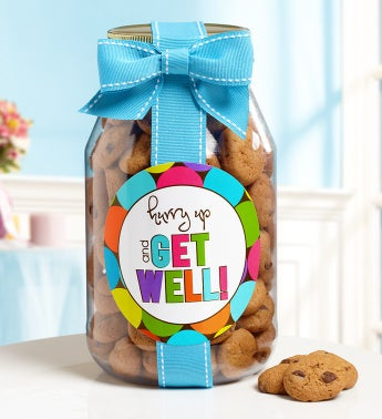 Hurry Up  Get Well Chocolate Chip Cookie Jar