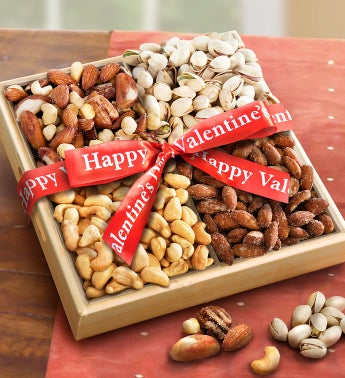 Nuts over You Valentine Nut Assortment Basket