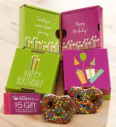 Happy Birthday Pretzel Card 2 Pack