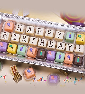 Happy Birthday Petits Fours - 36ct