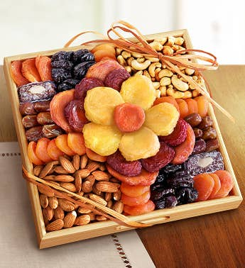 Ever Blooming Sympathy Fruit & Nuts Crate