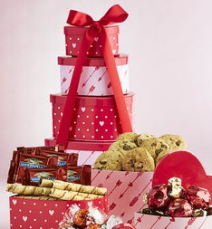 Hearts Afire Valentine Heart Chocolates Tower