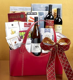 Timeless Traditions Wine & Gourmet Gift Basket
