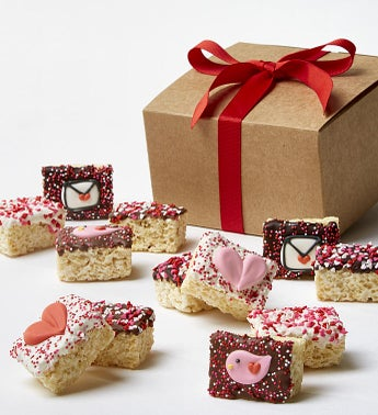 Happy Valentines Day Hand Dipped Crispy Rice Bites