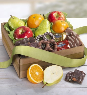 Enticing Fruit  Sweets Gift Box