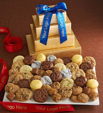 Cheryls Gold Bakery Gift Tower
