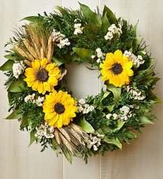 Preserved Sunflower Wreath – 16