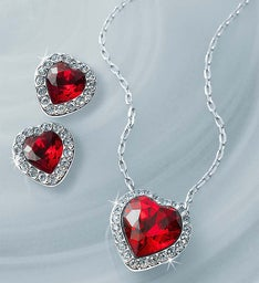 SWAROVSKI® Crystal Heart Jewelry Set