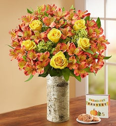 Fall Rose & Peruvian Lily Bouquet