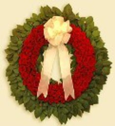 Red Holiday Wreath Premium