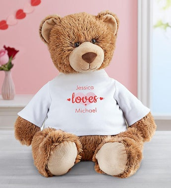 Personalized Tommy Teddy Hugs and Kisses