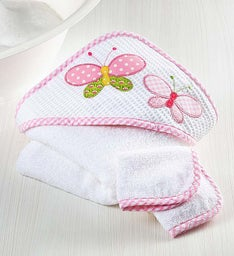 Butterfly Splash Party Hooded Towel & Bath Toys