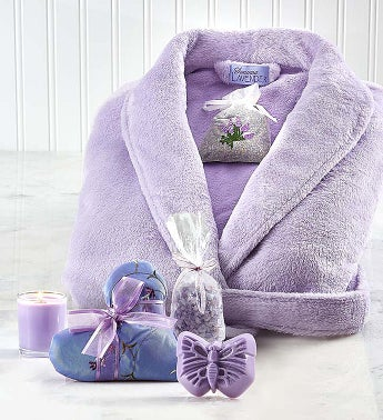 Sonoma Lavender Robe and Bath Gift Set