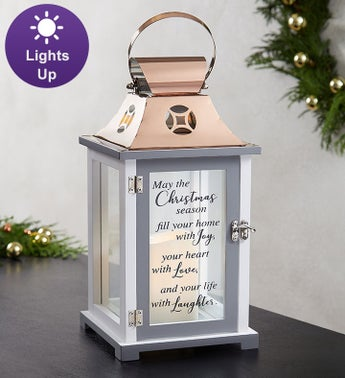 Christmas Season Lantern With LED Candle
