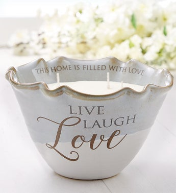 Live Love Laugh Tranquility Candle