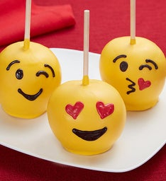 Emoticon Chocolate Apples