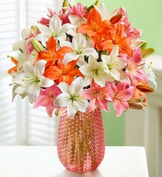 Vibrant Summer Lily Bouquet, 25-50 Blooms