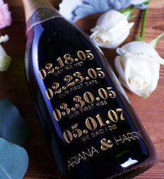 Special Dates Personalized Wine Bottle