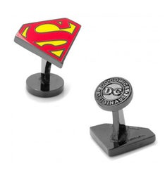 Black Superman Enamel Cufflinks