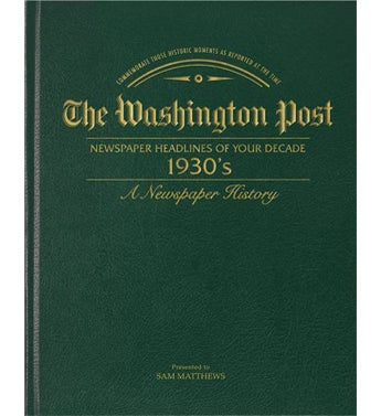 Washington Post 30's Decade Book