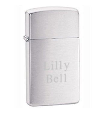 Custom Brushed Slim Zippo Lighter