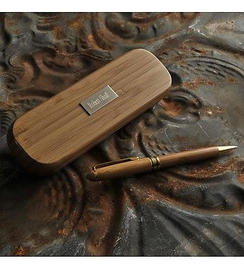 Personalized Bamboo Pen Set