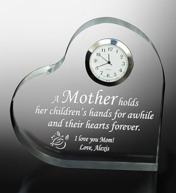 Personalized Mother Keepsake Clock