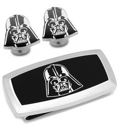 Darth Vader Cufflinks and Cushion Money Clip