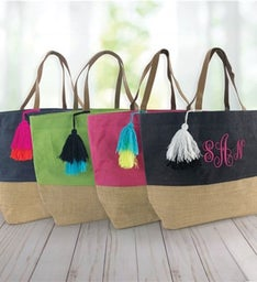 Personalized Just Tote Bag