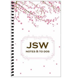 Personalized Cherry Blossom Journal