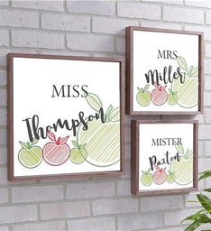 Personalized Teacher Wood Pallet Wall Dcor