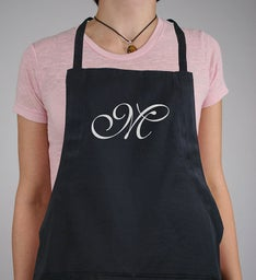 Personalized Embroidered Initial Apron
