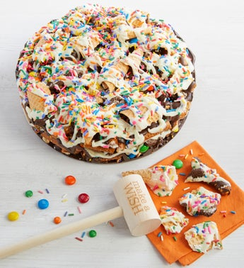 Chocolate Pretzel Pizza with Make A Wish Mallet