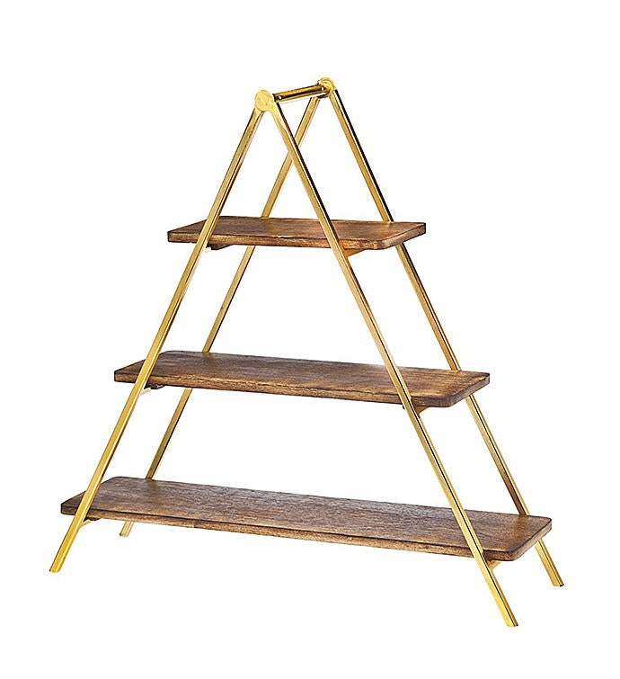 3-Tier Wood Server Rack