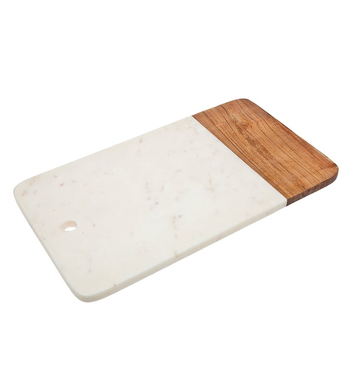 WoodMarble Rectangle Cheese Board