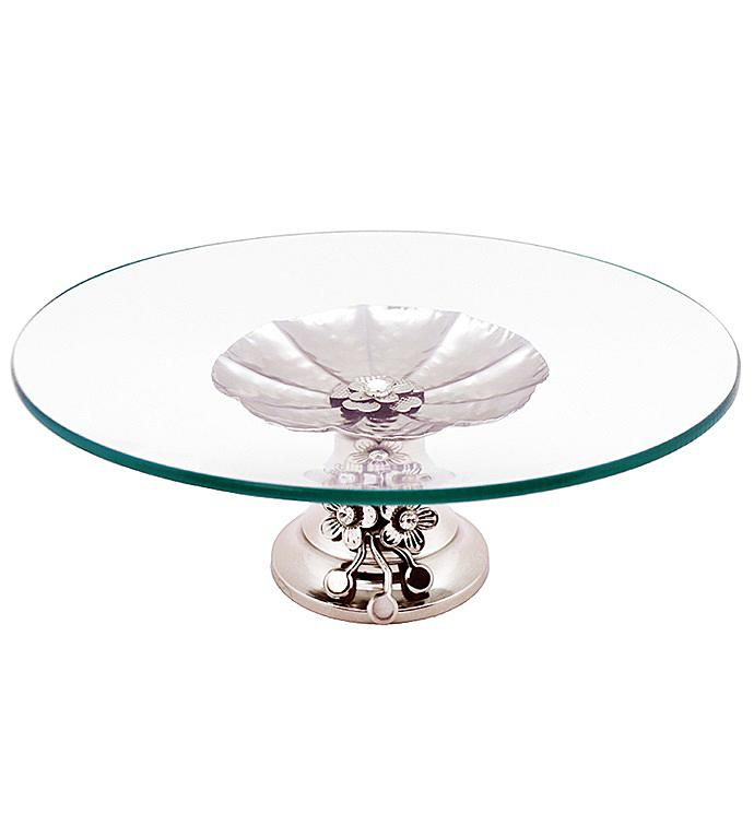 Round Serving Platter with Base
