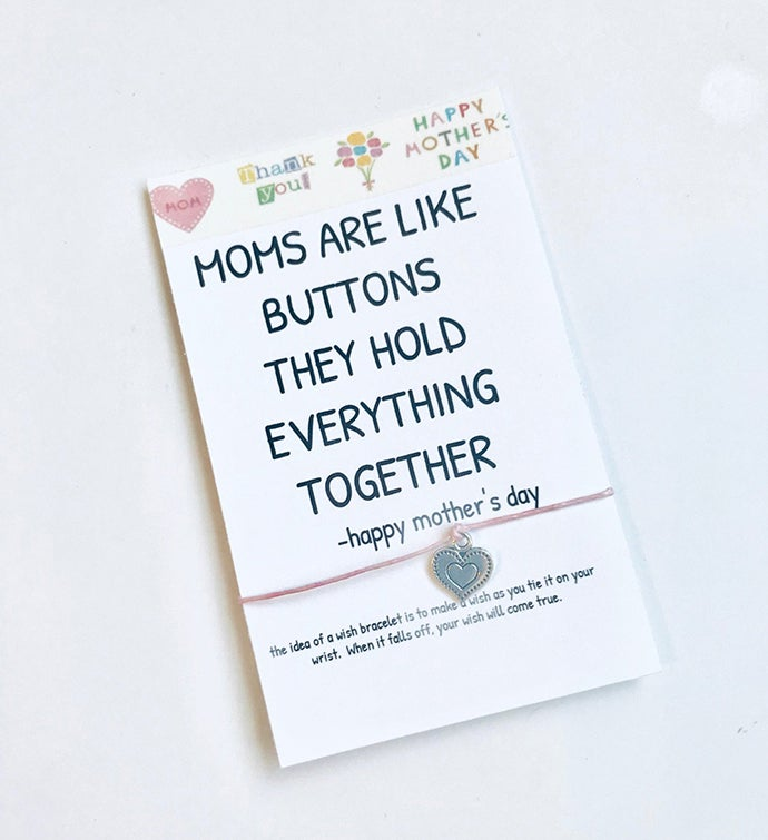 Mom Button Wish Bracelet