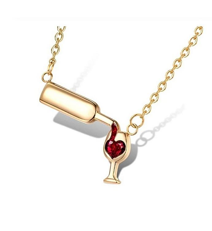 Love Wine Pendant Necklace