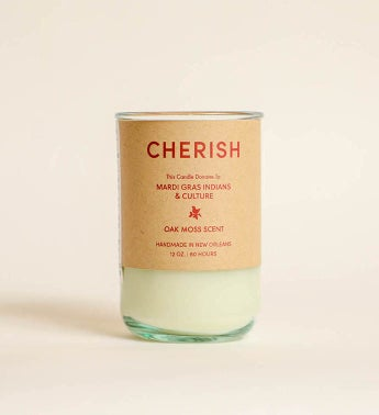 Cherish - Oak Moss Scent Candle Gives To Mardi Gras Indians  Culture