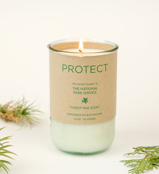 Protect - Forest Pine Scent Candle, Gives To National Parks