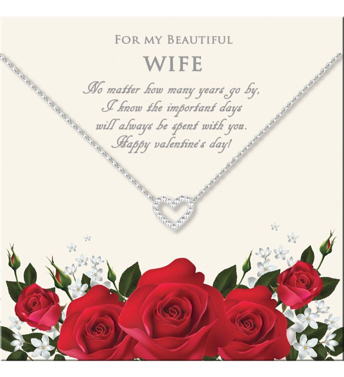 For My Beautiful Wife Mini Heart Valentine39s Day Necklace