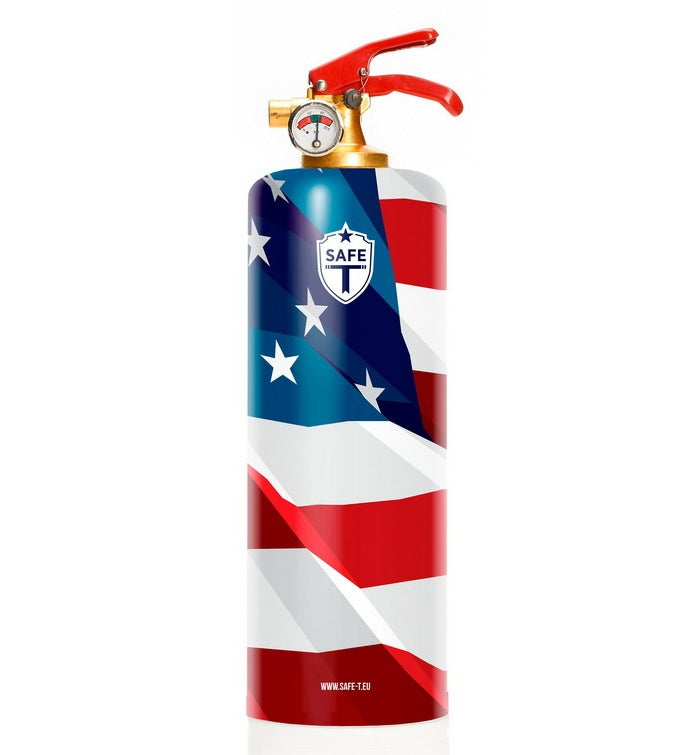 Safe-t Design Fire Extinguisher - Patriotic