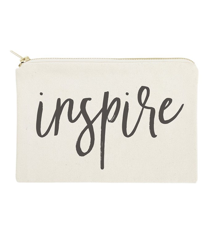 Encouraging Words Makeup Bag  Travel Pouch