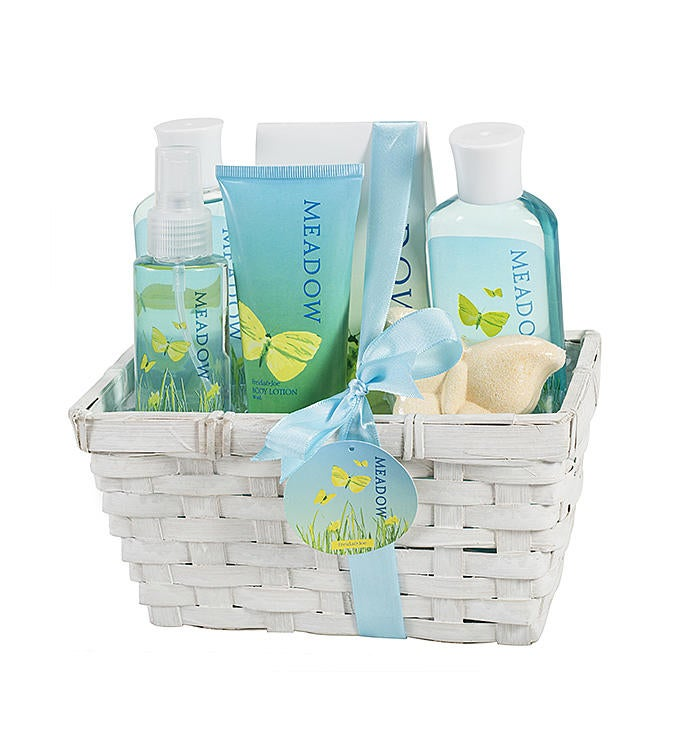 Meadow Fragrance Spa Beauty Skincare Gift Basket