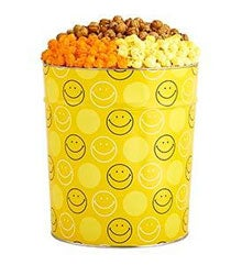 Smiley Face Popcorn Tins