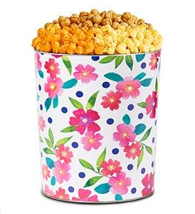 Spring Floral Popcorn Tins