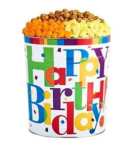 Big Birthday Popcorn Tins