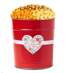 Happy Valentine's Day Popcorn Tins