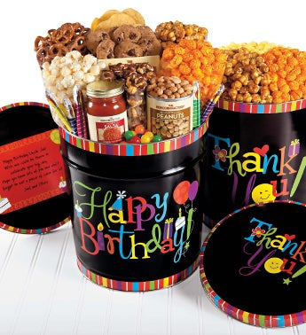 Birthday Wishes Popcorn & Deluxe Snack Tins