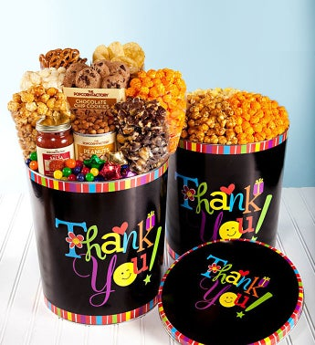 Thank You Wishes Design Popcorn & Snack Tins